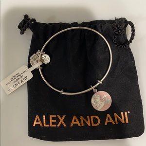 Alex and Ani pink stork bracelet bangle NWT